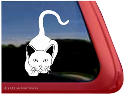 Custom Stalking Kitty Cat Window Decal