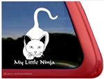 My Little Ninja Stalking Kitty Cat iPad Car Truck Window Decal Sticker