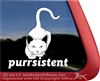 Purrsistent Stalking Kitty Cat iPad Car Truck Window Decal Sticker