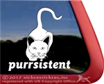 Purrsistant Stalking Kitty Cat iPad Car Truck Window Decal Sticker