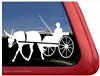 Mule Driving Vinyl Window Decal