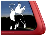 Memorial Boxer Dog Angel Decal Sticker Car Auto Window iPad