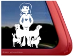 Crazy Dog Lady Vinyl Dog Decals & Stickers