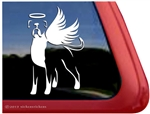 Memorial Long Tail Boxer Dog Decal Sticker Car Auto Window iPad