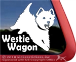 West Highland White Terrier Dog Car Window iPad Decal Sticker