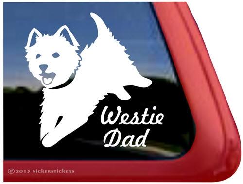Jumping Westie Mom Dog Decals & Stickers ~ NickerStickers