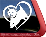 Jumping West Highland White Terrier Westie Dog Car Window Decal Sticker iPad