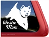 Jumping West Highland White Terrier Mom Dog Car Window iPad Decal Sticker