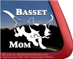 Jumping Basset Hound Dog Mom Car Truck RV Window Decal Sticker