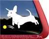 Custom Jumping Dachshund Chasing Ball Window Yeti iPad Car Truck RV Decal Sticker