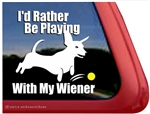 Wiener Dog Dachshund Car Truck RV Window Decal Sticker