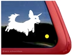 Custom Longhair Dachshund Dog Car Truck RV Window Decal Sticker
