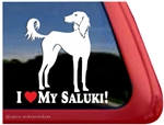 Saluki Window Decal