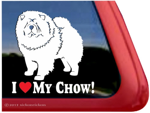 Chow Chow Decals  Stickers  NickerStickers - Vinyl decals for my car