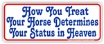 Horse Heaven Bumper Sticker