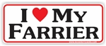 Love Farrier Bumper Sticker