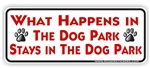 Dog Park Bumper Sticker