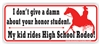 High School Rodeo Bumper Sticker
