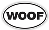 Woof Bumper Sticker
