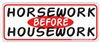 Horsework Bumper Sticker