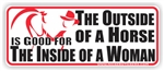 Outside Of A Horse Bumper Sticker
