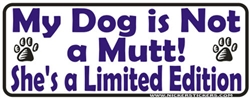 Limited Edition Female Bumper Sticker