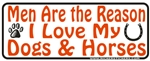 Men Are The Reason Bumper Sticker