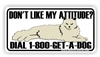 800-Get-A-Dog Bumper Sticker
