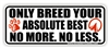 Best Breed Bumper Sticker