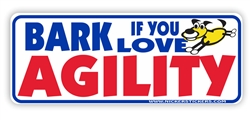 Agility Dog Bumper Sticker