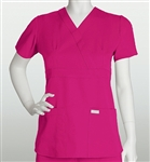 Ladies Barco Grey's Anatomy 3 Pocket Junior Fit Mock Wrap Top
