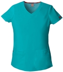 Ladies Dickies EDS Signature Junior Fit V-Neck Top