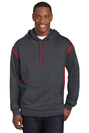 Men's Sport-Tek Tech Fleece Colorblock Hooded Sweatshirt