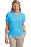 Ladies 100% Pima Cotton Y-Placket Sport Shirt