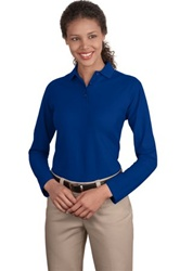 Ladies Silk Touch Sport Shirt (Long Sleeve)