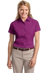 Ladies Easy Care Twill Shirt (Short Sleeve)