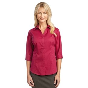 Ladies Open Neck Blouse (3/4 Sleeve)