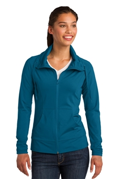 Ladies Sport-Tek® Sport-Wick® Stretch Full-Zip Jacket
