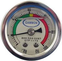 "1.5"" Liquid Filled Pressure Gauge"