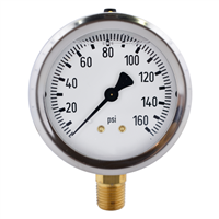 "2.5"" Liquid Filled Pressure Gauges"