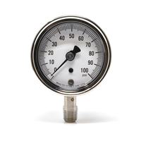 "2.5"" Stainless Steel Pressure Gauges"