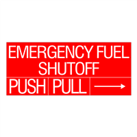 Emergency Fuel Shutoff Decal