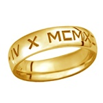 LifeDates 5.5MM 14K Gold Band