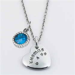 LifeNames Heart Charm Starter Necklace