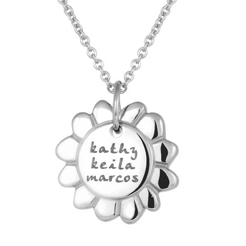 Lifenames Sunflower Necklace Wear this sunflower necklace with pride knowing that a portion of your purchase is donated to keep our planet's blissful bees alive. lifenames sunflower necklace