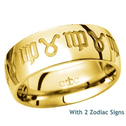 LifeSigns 8.5MM 14K Gold Band