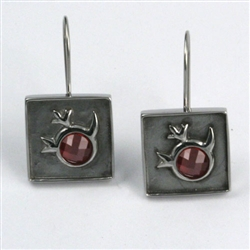 Basia's Garnet Apple Earrings