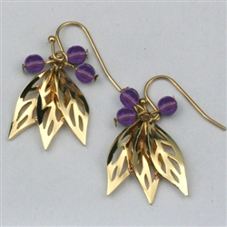 Giselle's Purple Rustling Leaves Earrings