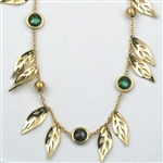 Giselle's Leaves and Stones Necklace