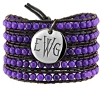 Vesta Amethyst Purple Wrap Bracelet Thorne Monogram